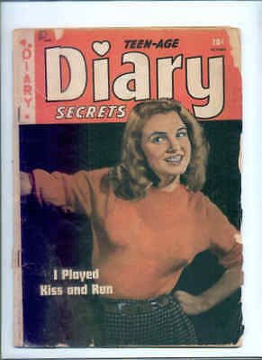 TEEN-AGE DIARY SECRETS 6 (Pre-fame MARILYN MONROE cover !  Only copy : RARE ! )