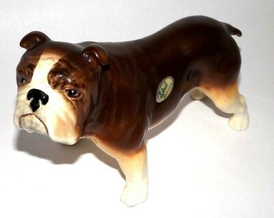 "SylvaC Dog Figurine English Bulldog 8"" x 5"" England"