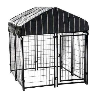 Lucky Dog Modular Pet Play Pen Welded Wire Heavy Duty Cage Fence Kennel (Used)