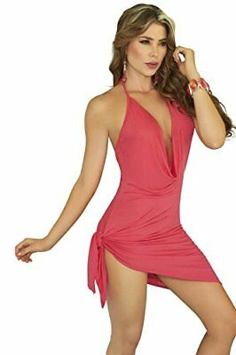 (TG. XL) Rosso (Rouge) AM PM In Espiral Dress colore corallo Dimensione XL