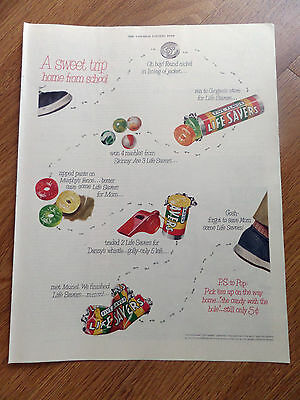 1951 Life Savers Candy Ad  A Sweet Trip Home from School