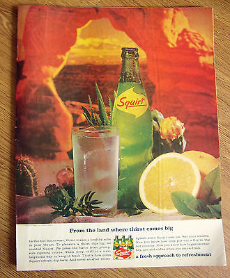 1965 Squirt Soda Ad Hot Southwest Theme From the land Where Thirst Comes Big