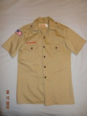 Official Boy Scouts of America uniform shirt Adult Small short sleeve Used
