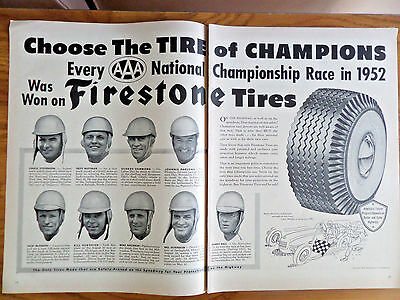 1953 Firestone Tire Ad Every AAA National Championship Race in 1952 Drivers