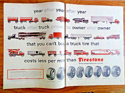 1957 Firestone Tires Ad Year after year Truck After Truck