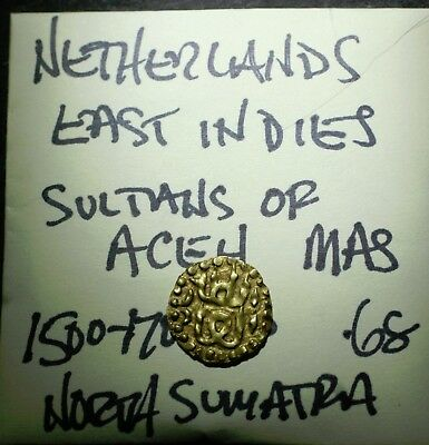 1511-1700's AD, Gold MAS Coin, ACEH, Sumatra, Netherlands East Indies, Indonesia