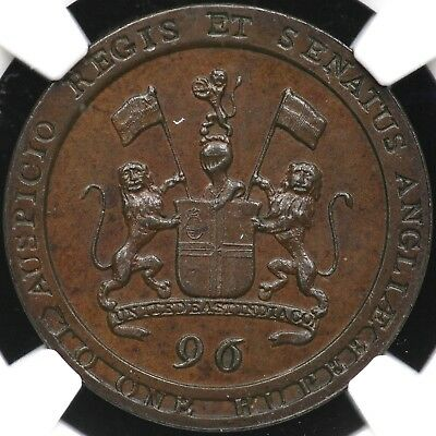 1794 Ngc Pf-64 Bn Proof 1/96 Rupee Copper Madras Presidency India