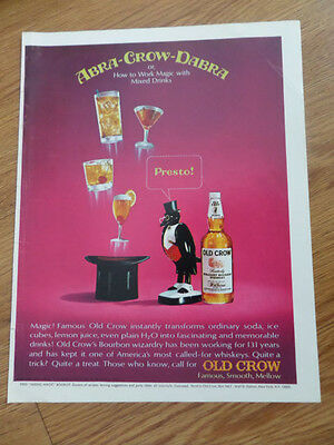 1966 Old Crow Whiskey Ad Abra-Crow-Dabra  Magic Theme