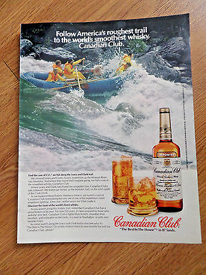 1981 Canadian Club Whiskey Ad Clark's Fork Rapids Find a Case of CC Lewis Clark