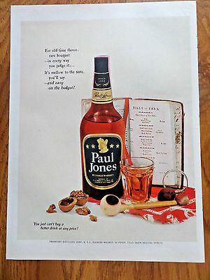 1953 Paul Jones Whiskey Ad Bills of Fare