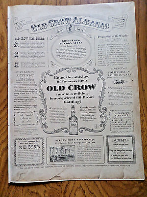 1956 Old Crow Whiskey Ad Old Crow Almanac Theme