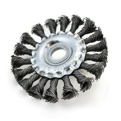 "4"" Steel Crimped Crimp Wire Brush Wheel for Angle Grinder Slag Buster"