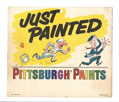 4 Vintage Pittsburgh Paints Just Painted Wet Paint Signs