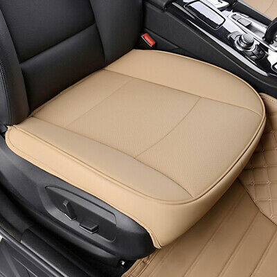 PU Leather Deluxe Car Beige Cover Seat Protector Cushion Front Cover Universal