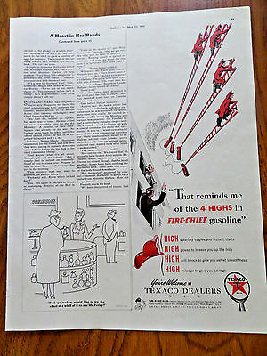 1941 Texaco Fire-Chief Gasoline AdReminds me of the 4 Hights in Fire-Chief Gas