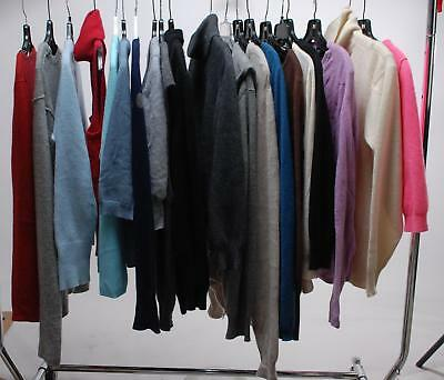 20 Sweater 100% Cashmere Fabric Crafts Up-Cycling Crafters Crafting Material Lot