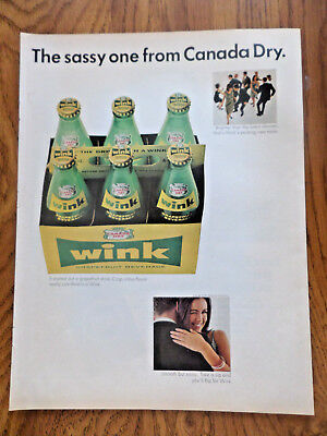 1965 Wink Soda Pop Ad  The Sassy one from Canada Dry