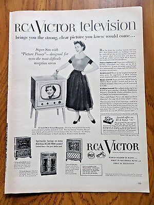 1951 RCA Victor TV Television Ad Super Sets with Picture Power