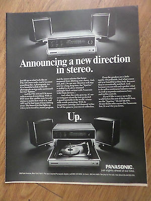 1970 Panasonic Stereo Ad  Announcing a new direction in Stereo  Up