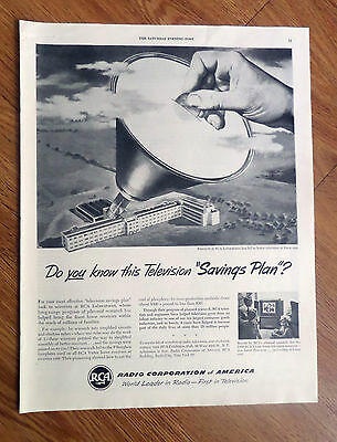 1950 RCA Research Laboratories Ad  Better Television TV at lower Cost