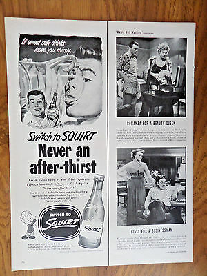1952 Squirt Soda Ad Guys Switch to Squirt