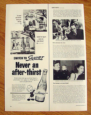 1953 Squirt Soda Ad  Playing Basketball