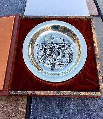 Franklin Mint 1972 First Annual Thanksgiving Sterling Silver 925 Plate