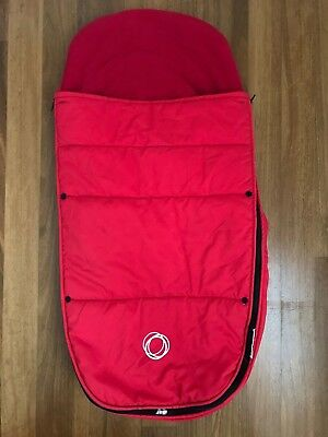 Bugaboo Universal Red Footmuff in Good Condition