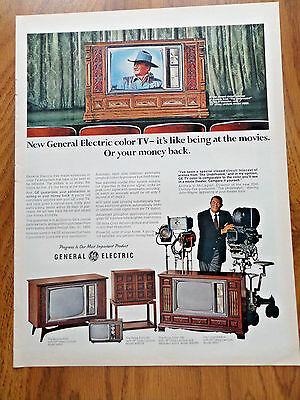 1969 GE General Electric TV Television Ad Hollywood Movie Star John Wayne