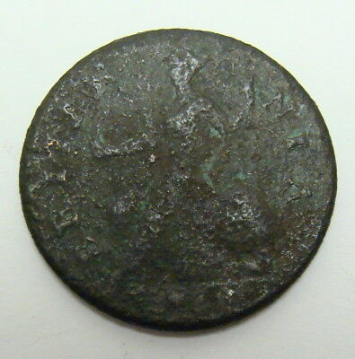 173? George Ii Half Penny, Coin Found On St Simons Island, Ga!!   Free Shipping