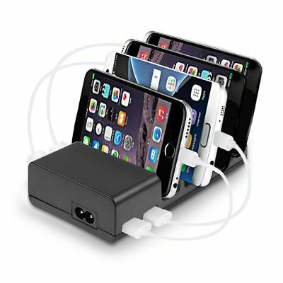 4-Port USB Charging Desktop Station HUB Home Travel Wall Charger Stand Holder