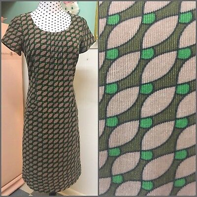 864e05384ae1 BODEN CORDUROY SHEATH Dress-Pockets-Vtg-Retro-Mod-Geo-Abstract-Shift ...