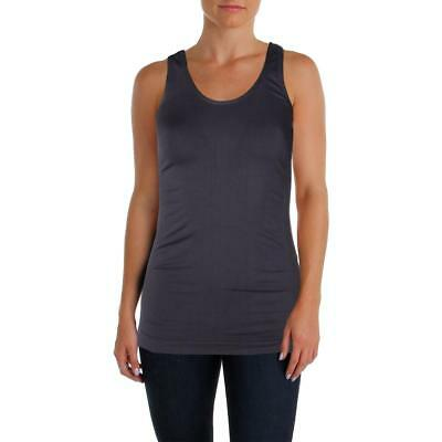 Sweet Romeo 7503 Womens Gray Compression Quick Dry Tank Top Athletic S/M BHFO