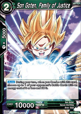 Dragonball Trading Cards BT1-063 - Son Got, Family of Justice