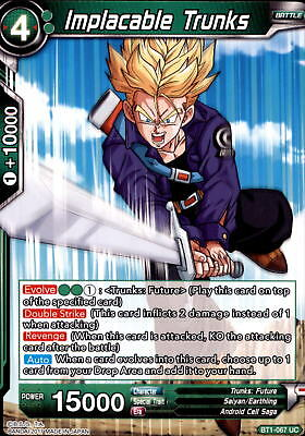 Dragonball Trading Cards BT1-067 - Implacable Trunks