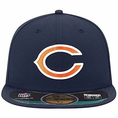 7016c7a84f4 ... store mens chicago bears new era 59fifty on field fitted hat cap nfl  navy c sideline ...