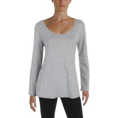 Nanette Lepore 0493 Womens Gray Mesh Inset Cut Out Pullover Top Athletic M BHFO