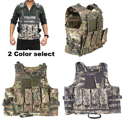 SWAT Combat Molle Plate Military Army Airsoft Tactical Vest Hunting Adjustable