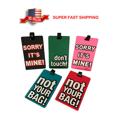 Novelty Travel Luggage/ID Tags 5pc Silicone Cartoon Letters Design