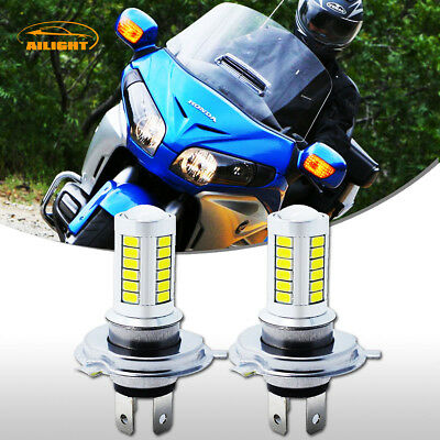 80W H7 LED Headlight Bulbs for Honda GL1800 Goldwing '01-'15 and Sport Bike