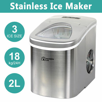 White Counter Table Top Ice Cube Machine Maker Bar Restaurant Drinks 18Kg / Day
