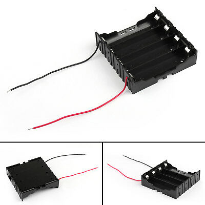 4 Cell 18650 Series Battery Holder Storage Case With Wire Leads 14.8V AU