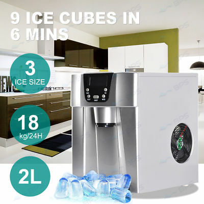 Modern Digital Ice Maker and Dispenser Machine with LCD Display - Counter Top