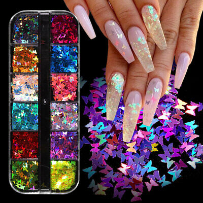 BORN PRETTY Nail Sequins Holographic Glitter Nail Flakies Nail Art Decoration