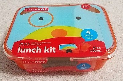 Skip Hop Zoo 4 Piece Lunch Kit-Dog