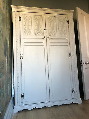French Antique Wardrobe with beautiful detailing