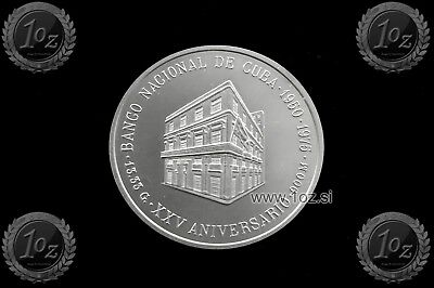 5 PESOS 1975 ( 25th anni National Bank ) Commemorative SILVER Coin (KM# 36)