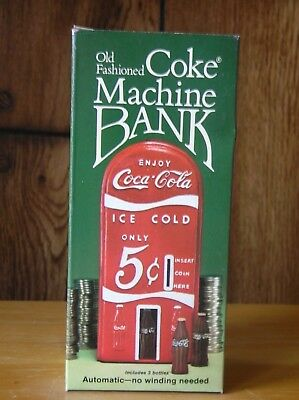 Old Fashioned Coke Cola Machine coin Bank 1982 Hong Kong