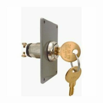 Universal Electric Key Switch Wplate 2 Keys Home Gate Garage Door