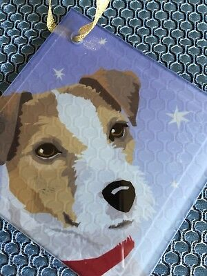 "Jack Russell Terrier Picture Glass  ""New""  Free Shipping"